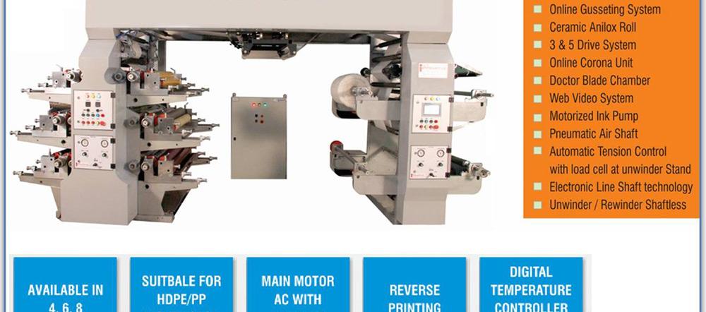 Innovative Flexotech High Quality Flexo Printing Press
