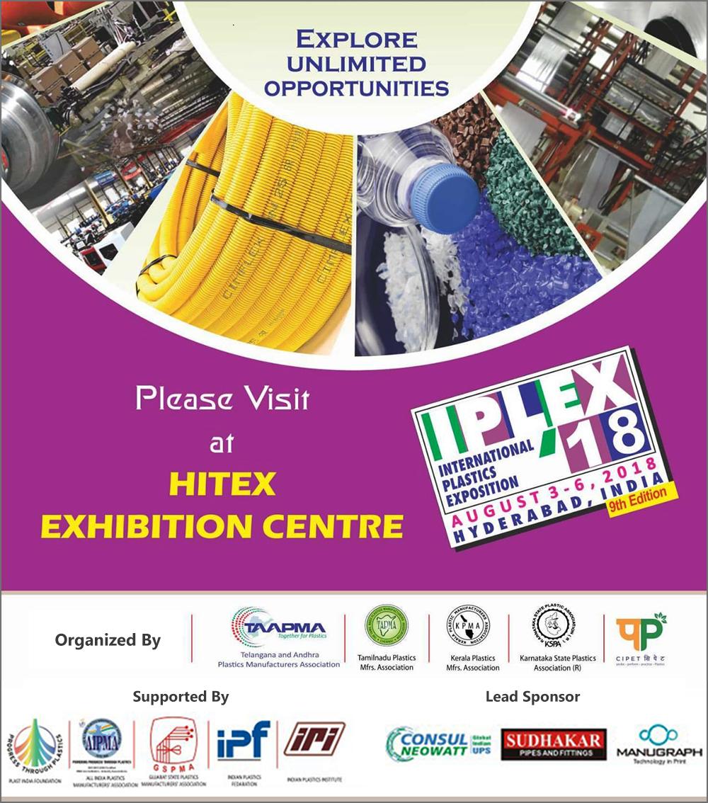 Ninth edition of IPLEX, an international plastics exposition, begins Today