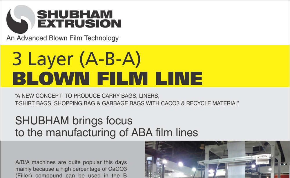 Three Layer Blown Film Line