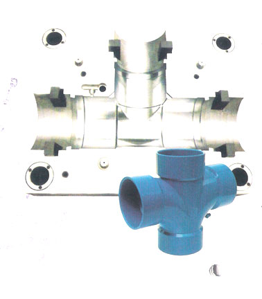 PVC drainage / sewage pipe fitting moulds_1