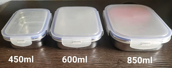 Unused tiffin, lunch box moulds