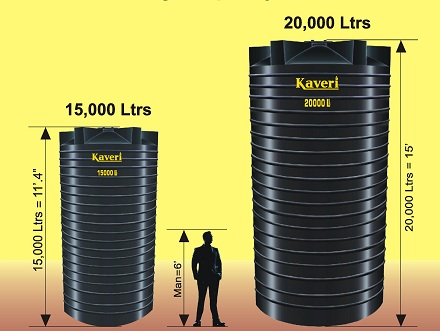 Large capacity chemical storage tanks