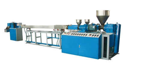 Two colour bending straw making automatic line