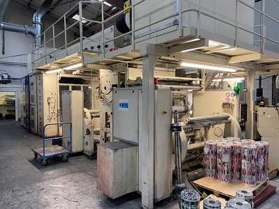 Carint Cyberflex 8 colour gearless CI flexo printing press