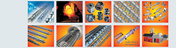 Screw & Barrels for Plastic Injection, Extrusion & Blow Moulding Machine