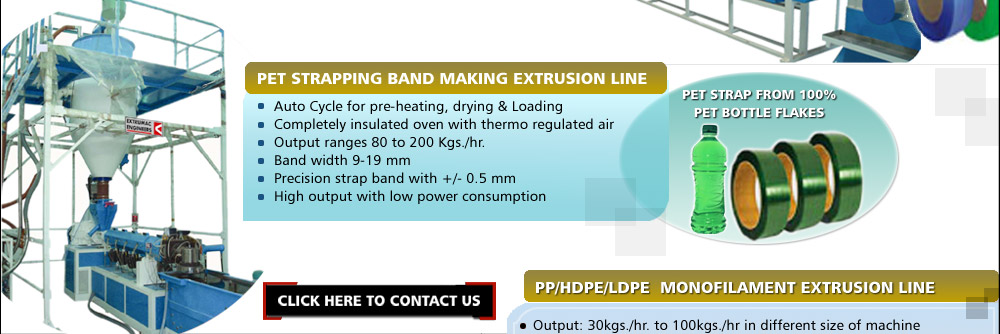 Manufacturer of Fully Auto PP Strapping Band Making Extrusion Line, PET Strapping Band Making Extrusion Line