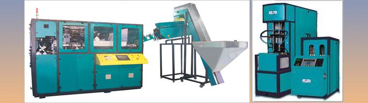 Semi Automatic & Automatic Pet Stretch Blow Moulding Machines & Accessories
