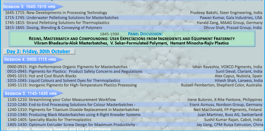 panel discussion resin masterbatch compounding