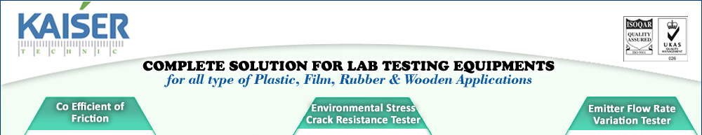 Lab Testing Equipments for all types of Plastics, Film, Wooden Applications