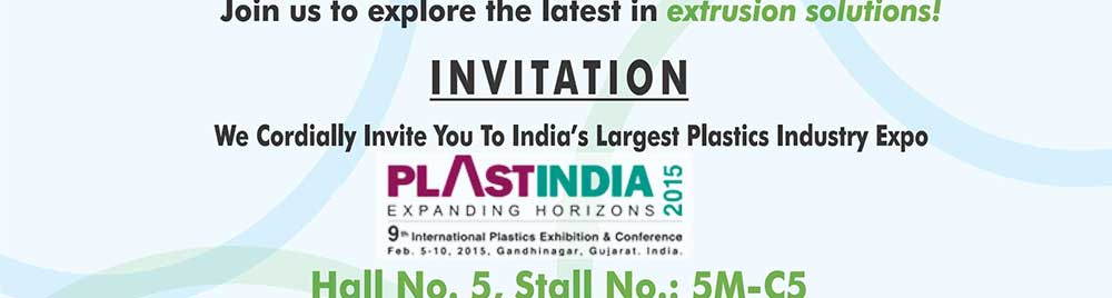 Kabra extrusiontechnik cordially invites you to plast india 2015 invitation pi2015 17 15 stopboris Choice Image