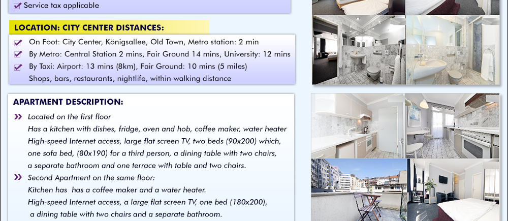 Stay At A 4 Luxury Apartment Just 2 Mins From Dusseldorf Main Station At Reasonable Price