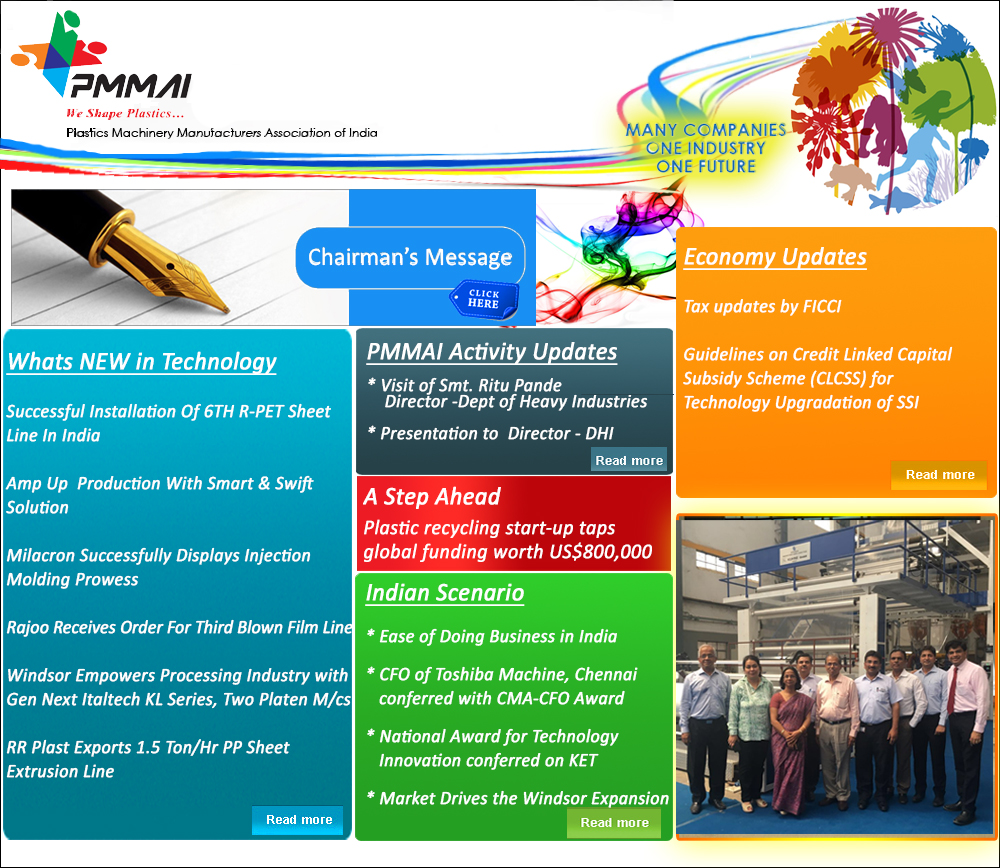plastics machinary manufacturer association india