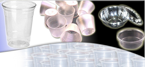 Plastic Disposable Food Containers, PP Disposable Glasses and Cups